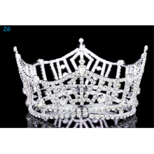 "3"" Tall Pageant Tiara Crown - Silver Plated Rhinestone Crystal"