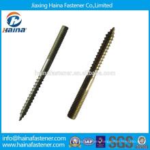OEM Hanger Bolt,color zinc wood thread stud screw