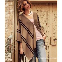 Damenmode Acryl Gestrickte Streifen Schal (YKY4151)
