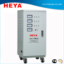 Three Phase Motor Control Industrial Use 9kva Generator Voltage Stabilizer