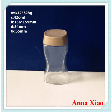 420ml Glass Coffee Jars with The Plastic Cap