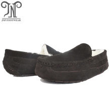 Cheap for Mens Real Sheepskin Slippers men warm fluffy moccasin shoes slippers export to Kuwait Exporter