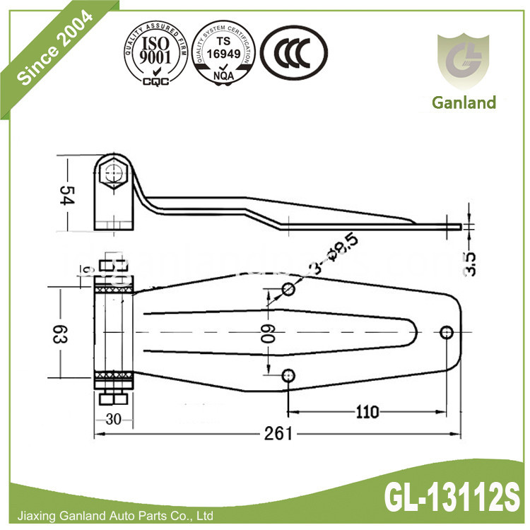 Locker Hinge Specification GL-13112s