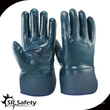 Heavy Duty,Safety Cuff,Nitrile Coated Work Gloves,Oil industrial nitrile gloves