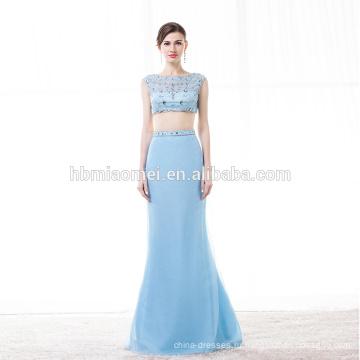 Оптом алибаба два куска светло-голубой длина пола дешевые платья выпускного вечера 2017