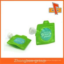 Wiederverwendbarer Reißverschluss-Auslaufbeutel, Stand-up-Auslauf für Hand-Desinfektionsmittel Verpackung