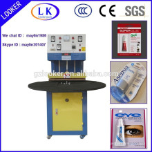 CE Turntable Blister Paper Card Packing Machine