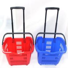 Supermercado usado duas rodas cesta com alça Yd-Zc-10