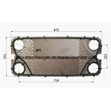 Placa para intercambiador de calor de juntas (igual a M10B / M10M)