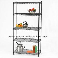 5 gradas de polvo cubierto de metal de metales Wire Shelving (LD9035180A5E)