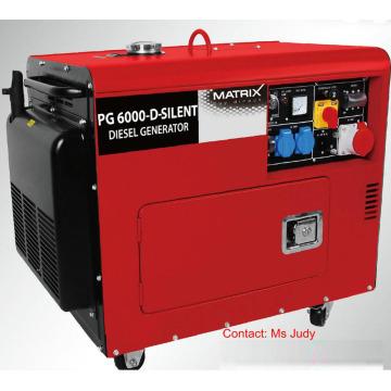 Triphasé 5kw de générateurs diesel silencieux refroidis à l'air de Bn5800dse-3