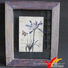Luckywind schäbig und Vintage Holz Bilderrahmen
