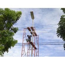 La luz de calle solar 5w con CE / ROHS / IP65 aprobó la alta eficacia integrada poste de luz solar de la calle