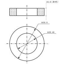 """Anillo de cerámica piezoeléctrica sin plomo OD2 """"xID1.2"""" x200KHz"""
