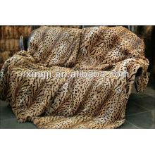 teints et impression couleur de tigre meilleure qualité rex couverture de fourrure de lapin