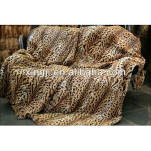 dyed and print tiger color best quality rex rabbit fur blanket