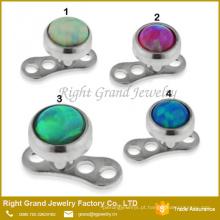 Jóia perfurando sintética de aço cirúrgica do corpo da âncora da opala do opal de fogo 316L