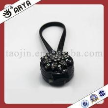 Clips magnéticos de cortina preta com flor decorativa de diamante para cortina decorativa
