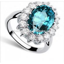 Uk royal mesmo hot retro estilo clássico diamante anel de casamento