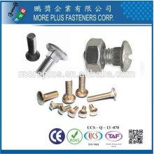 Taiwan aço inoxidável ASME B18.5 cabeça redonda cabeça de parafuso pescoço parafuso