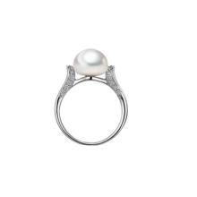 Кольцо обручальное с пресноводной жемчужиной
