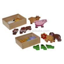 Baby-hölzerne pädagogische Spielwaren-Puzzlespiel-Form-Puzzlespiele Tier-Bauernhof-magnetisches Puzzlespiel-Puzzlespiel-Satz