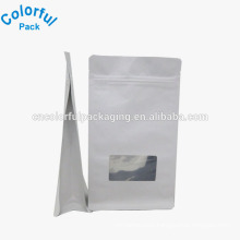 Factory customized square bottom white paper bag alibaba China suppilers