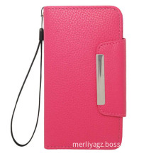 PU Leather Mobile Case for Samsung Mobile Phone, Stand Wallet Leather Case
