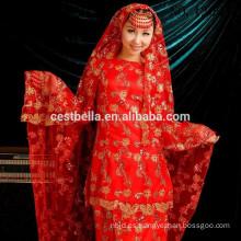 Arabia Vestidos de novia islámica con Hijab