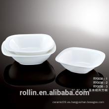 Vajilla de cerámica baratos Italian Square Blank Bowls
