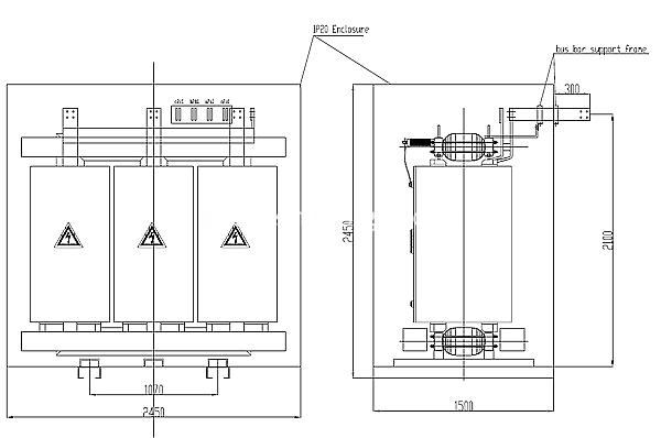 3150kva dry type transformer