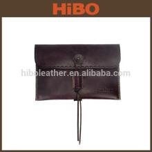 Portefeuille en cuir d'embrayage enveloppe vintage pour hommes