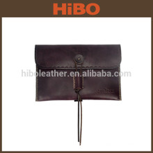 Carteira de couro de embreagem envelope vintage masculino