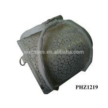 vente chaude cuir sac cosmétique avec 4 plateaux amovibles à l'intérieur de l'usine de la Chine