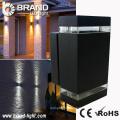 Alta potencia 2x6x1W luz de pared rectangular arriba y abajo LED luz de pared exterior rectangular