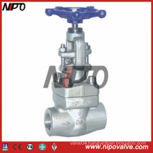 API 6D Screw Thread Forged Gate Valve
