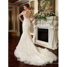 ZM16019 Sexy Backless High NecK Unusual Design Mermaid Wedding Dresses Off-Shoulder Modern Wedding Dresses Bridal Gown