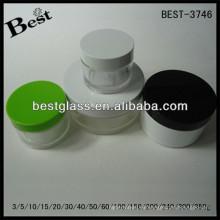 BEST-3746 / jarra petg / tarro acrílico de forma redonda, pmma, abs, as, 3/5/10/15/20/30/40/50/60/100/150/200/240 / ml frascos cosméticos de crema