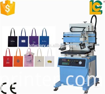 plane screen printing machine with working table