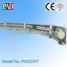 PAD vidrio de aluminio de buena calidad CE automático curva puerta corredera