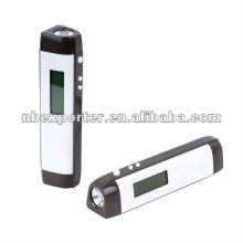 Flashlight with digital clock