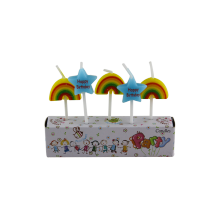 Lilin Kilang Colorful Bintang Bentuk Rainbow Bentuk Lilin