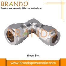 Union 90 Degree Elbow Brass Pneumatic Ferrule Fittings