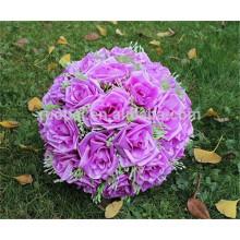 Atacado hortênsia bola rosa artificial de seda artificial pendurado bola de flores para decoração de casamento