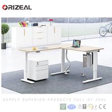 2018 nueva tecnología escritorio de pie motorizado convertidor de escritorio ajustable control remoto inalámbrico
