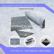 filtre à air de carbone activé filtre à air de carbone tissu chiffon de filtre à air de carbone