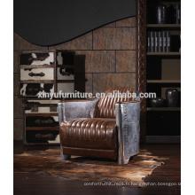 Chaise canapé à dossier en bois vintage en style américain A601