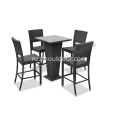 outdoor+PE+wicker+5-piece+bar+set