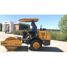 rubber wheel mini road roller vibratory