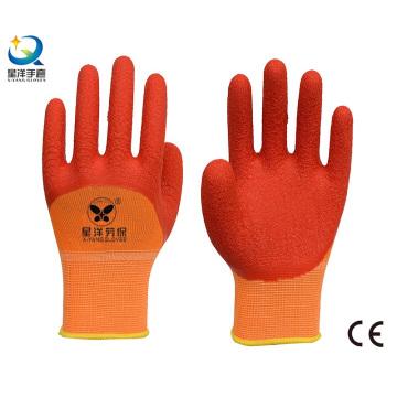 13G полиэфирные латексные латексные перчатки с покрытием 3/4